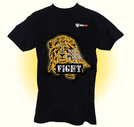 Lion - Be wise, be ready, be strong, to fight! T-Shirt