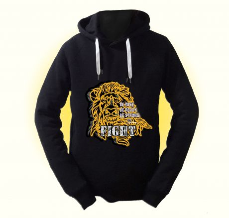 Be wise, be ready, be strong, to fight! (lion) Pullover